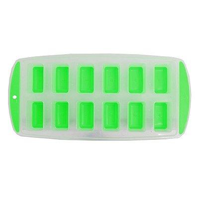 Forma Para Gelo 12 Cubos - Verde - Wincy