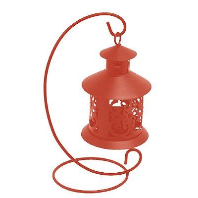 Lanterna Marroquina Com Suporte - Vermelha - Wincy