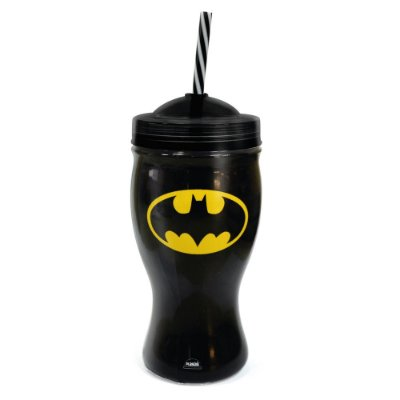 Copo Com Canudo 660ml - Batman - Plasútil