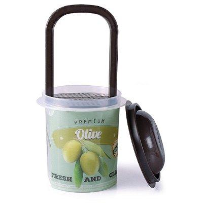 Pote Para Conserva Premium 700ml - Olive - Plasútil