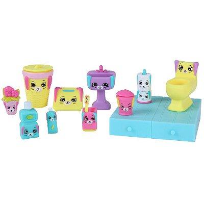 Shopkins Happy Places Kit Decoração - Banheiro Coelhinhos - DTC