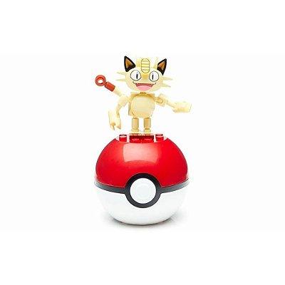 Pokebola Mega Construx Pokémon - Meowth - Mattel
