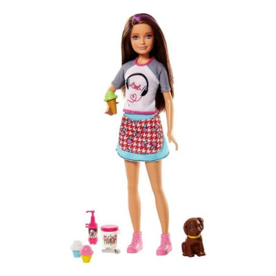 Barbie Irmãs na Cozinha Morena - Sorvetes - Mattel