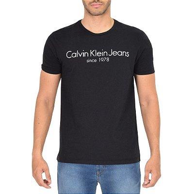 Camiseta Masculina Básica Since 1978 - Preta - Calvin Klein