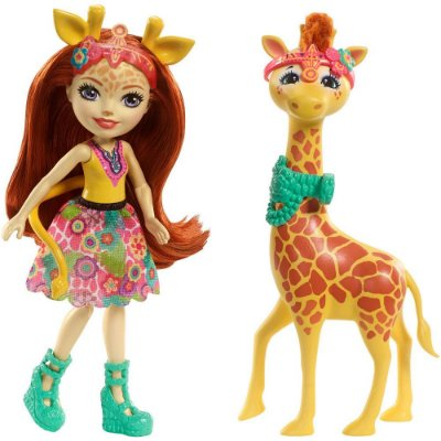 Enchantimals Conjunto - Gillian Giraffe e Pawl - Mattel