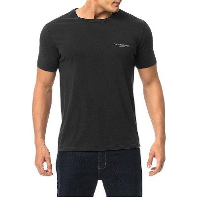 Camiseta Masculina Logo Básica - Preta - Calvin Klein