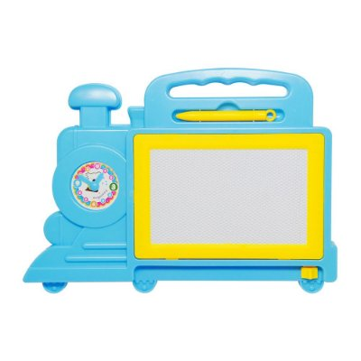 Quadro Mágico Locomotiva - Azul - Dm Toys