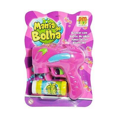 Lançador Mania de Bolha - Rosa - Dm Toys