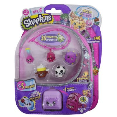 Shopkins Blister Kit 4 Com 5 Personagens - Série 5 - DTC