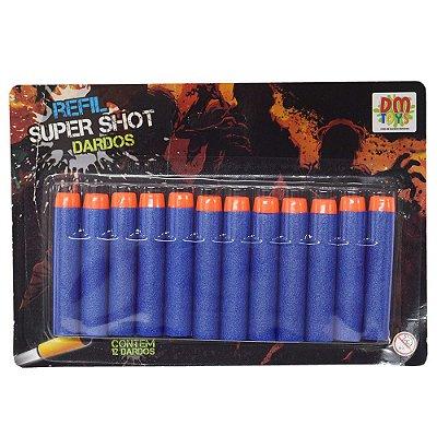 Refil de Dardos Super Shot - 12 Peças - Dm Toys