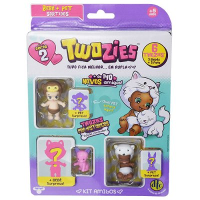 Twozies Blister Kit com 6 Personagens - Gidget - Série 2 - DTC