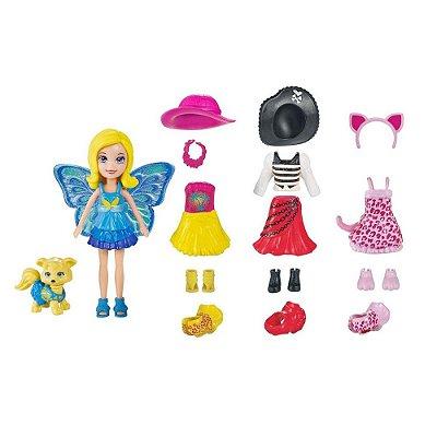Polly Pocket - Looks Combinados Polly & Cachorrinho - 20 Peças - Mattel