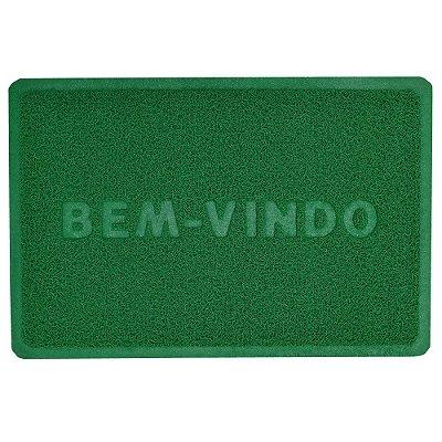 Capacho Bem-Vindo 40cm x 60cm - Verde - Camesa