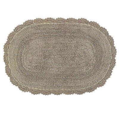 Tapete Oval de Crochê 40cm x 60cm - Cacau - Kacyumara