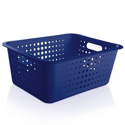 Caixa Organizadora Grande - Azul - Ou