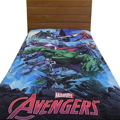 Edredom Dupla Face Solteiro Infantil - Avengers - Lepper
