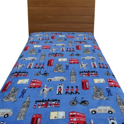Cobertor Ultrasoft Solteiro Infantil - Londres - Parahyba