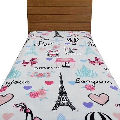 Cobertor Ultrasoft Solteiro Infantil - Paris - Parahyba