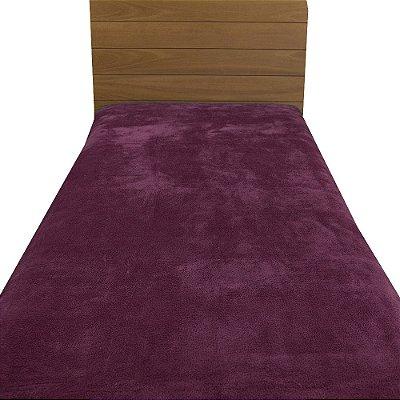 Cobertor Microfibra Solteiro - Marsala - Parahyba
