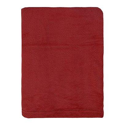Cobertor Microfibra Para Viagem - Vermelho - Parahyba