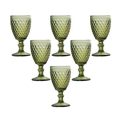 jogo de Taças de Água Verre 250ml - Verde - Mimo Style