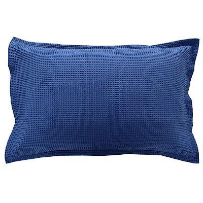 Porta Travesseiro Piquet - Azul - Döhler
