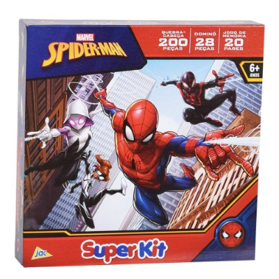 Super Kit Spider Man - 3 em 1 - Jak