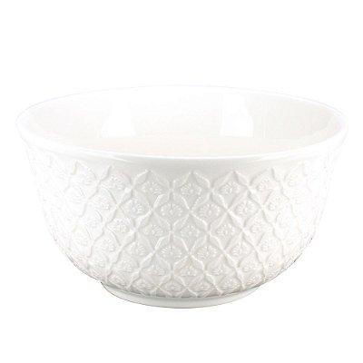 Bowl em Porcelana Cuenco Branco - Flores - L'Hermitage