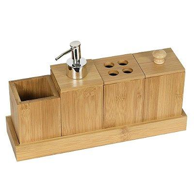 Kit de Banheiro Eco Kitchen - 5 Peças - Mimo Style