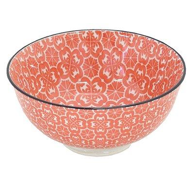 Bowl em Porcelana 280ml - Vermelho Jacquard - Full Fit