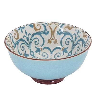 Bowl em Porcelana 280ml - Azul Ladrilhos - Full Fit
