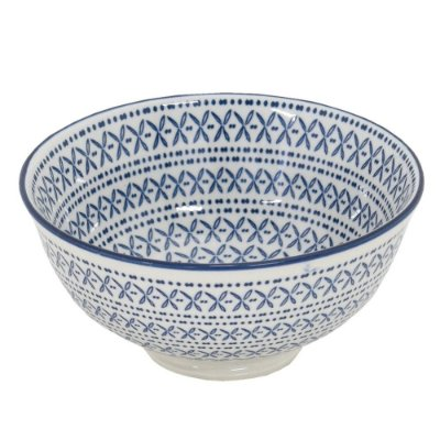 Bowl em Porcelana 280ml - Azul Étnico - Full Fit