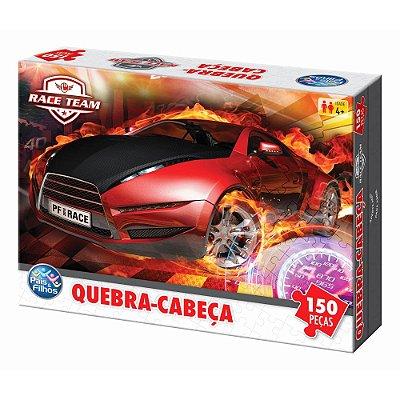 Quebra Cabeça Race Team - 150 Peças - Pais e Filhos