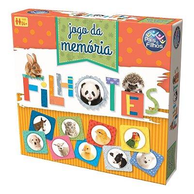 Jogo da Memória Filhotes - Pais e Filhos