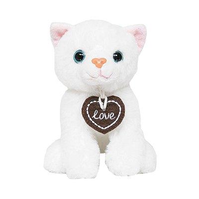 Pelúcia Gatinho Kitty - Branco - Buba