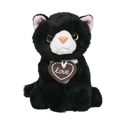 Pelúcia Gatinho Kitty - Preto e Branco - Buba