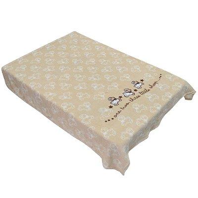 Cobertor para Berço Acalanto - Carneirinhos Bege - Colibri