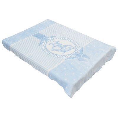 Cobertor Para Berço Premium - Camafeu Azul - Colibri