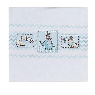 Manta Para Bebê em Malha - Amiguinhos Azul - Colibri