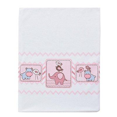 Manta Para Bebê em Malha - Amiguinhos Rosa - Colibri