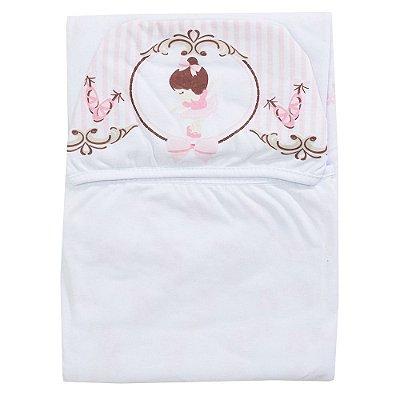 Toalha de Banho Com Capuz - Bailarina Rosa - Colibri