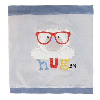 Manta Suedine Hug Ursinho - Azul - Bicho Molhado