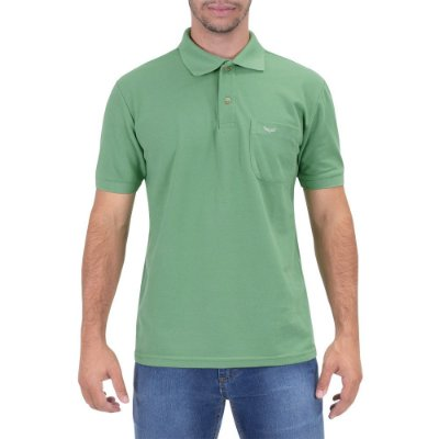 Camisa Polo Masculina Verde Aspargo - Wayna