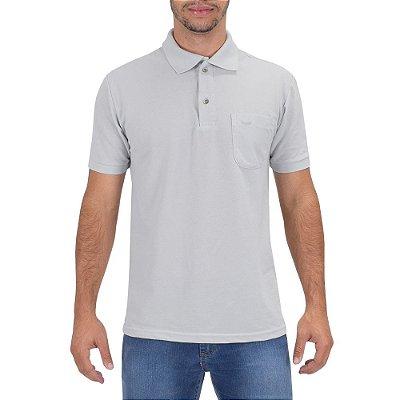 Camisa Polo Masculina Cinza Claro - Wayna