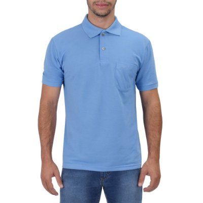 Camisa Polo Masculina Azul Claro - Wayna