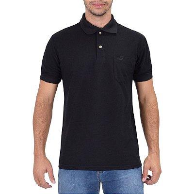 Camisa Polo Masculina Preta - Wayna