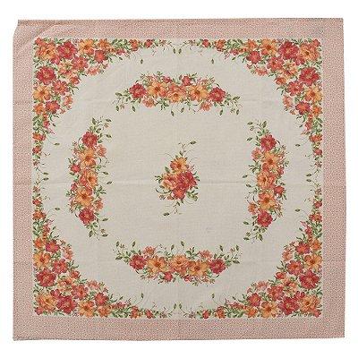 Toalha de Mesa 78x78 cm - Flores Louna - Karsten
