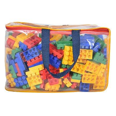 Blocos de Montar Bolsa Bricks - 500 Peças - Pais e Filhos