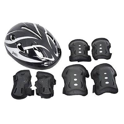 Kit Super Proteção Radical - Preto - Bel Sports