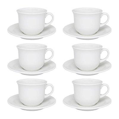 Jogo de Xícaras de Chá Floreal White - 12 Peças - Oxford